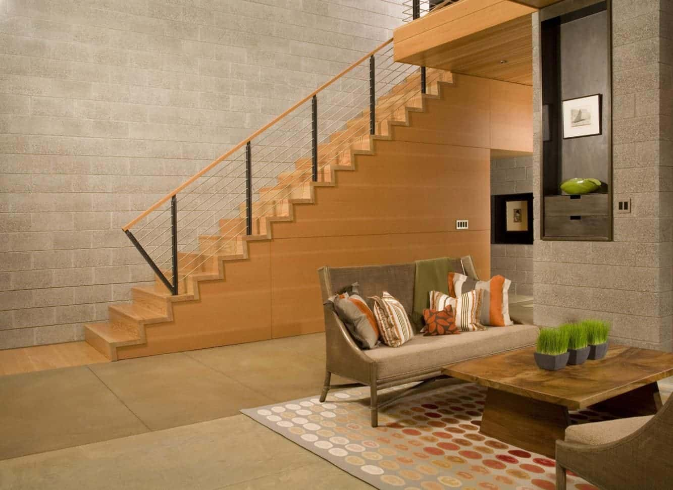 Resultado de imagem para Escada reta com revestimento em madeira