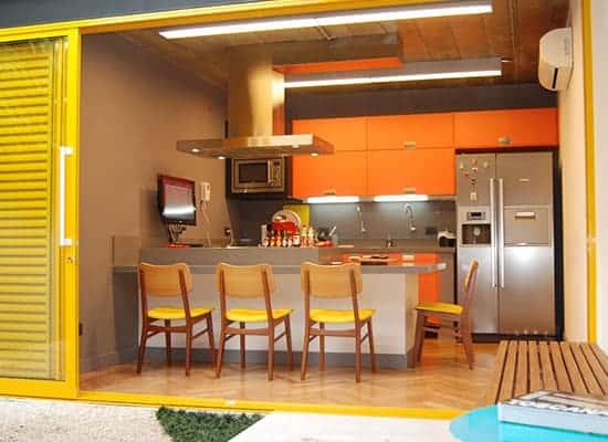 Resultado de imagem para decoração casa Amarelo e laranja