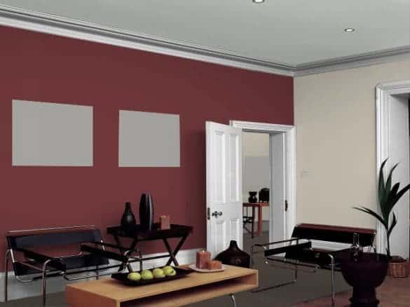 Resultado de imagem para parede Bege e vermelho