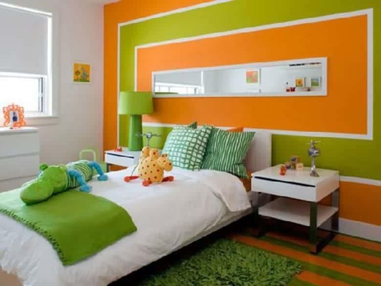 Resultado de imagem para parede Verde e laranja
