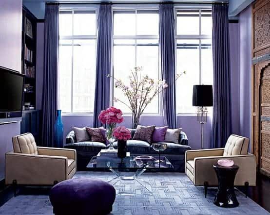 Resultado de imagem para decoração casa Violeta, azul-escuro e azul