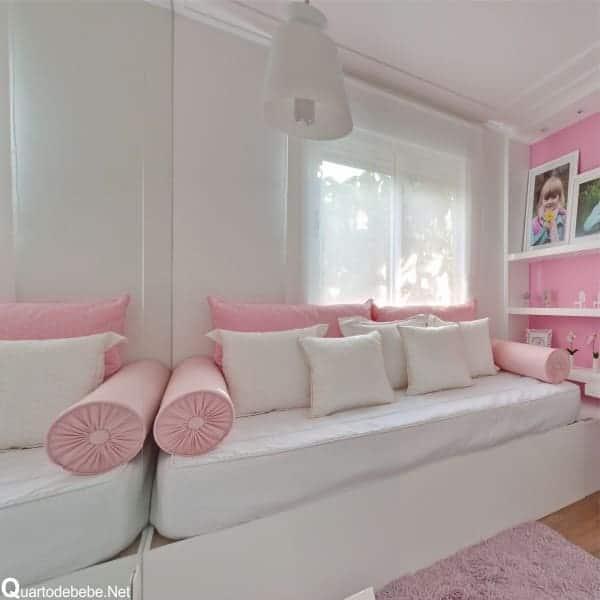 Resultado de imagem para parede Rosa e branco
