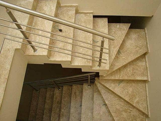 Resultado de imagem para Escada em U em mármore