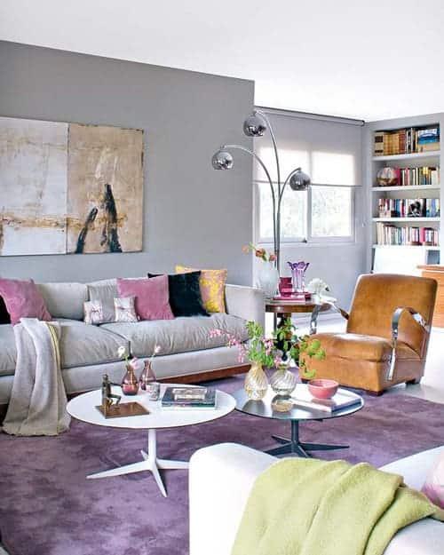 Resultado de imagem para parede Cinza e violeta