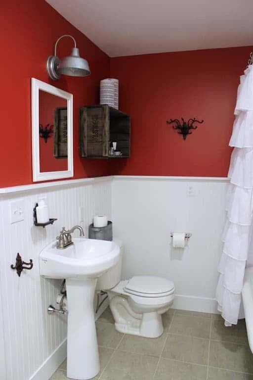 Banheiro Vermelho E Branco 30 Fotos E Ideias Total