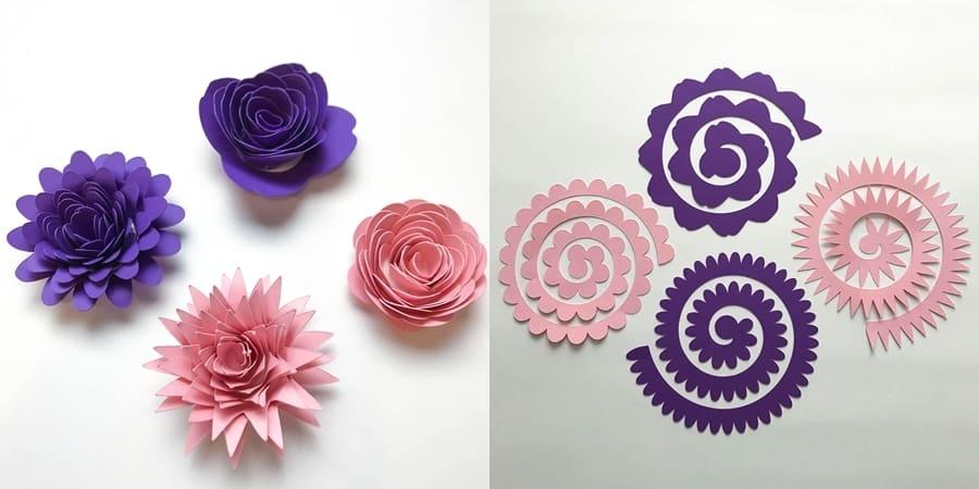 varios tipos de flor de papel