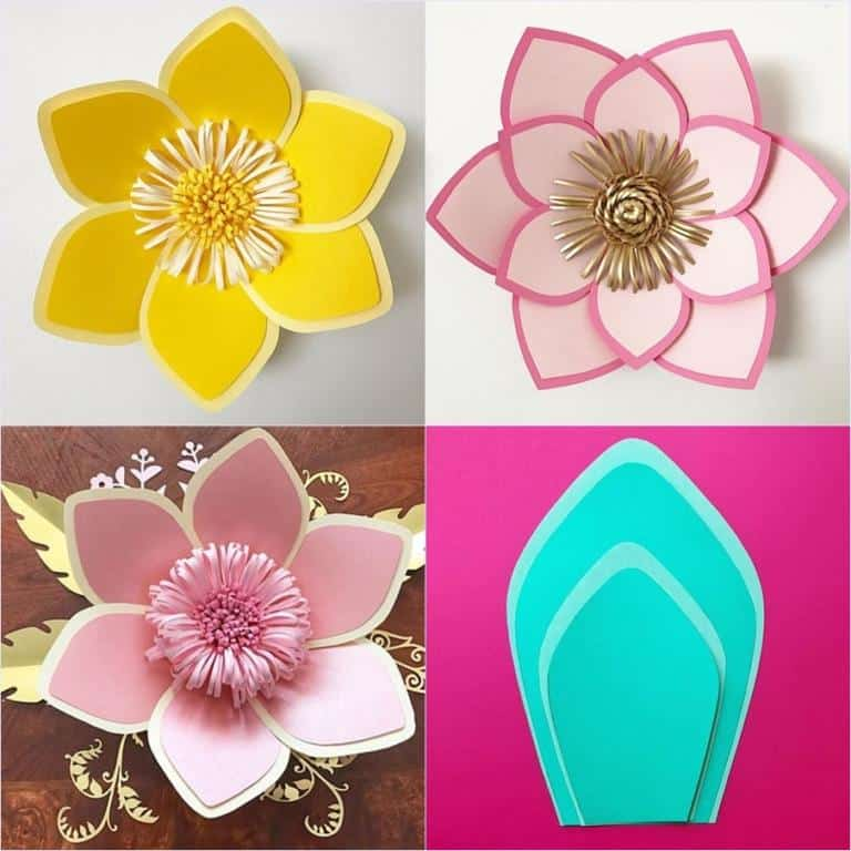 molde para flor de papel