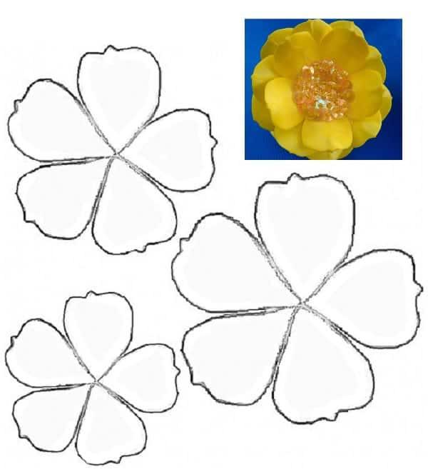 molde de flor para imprimir