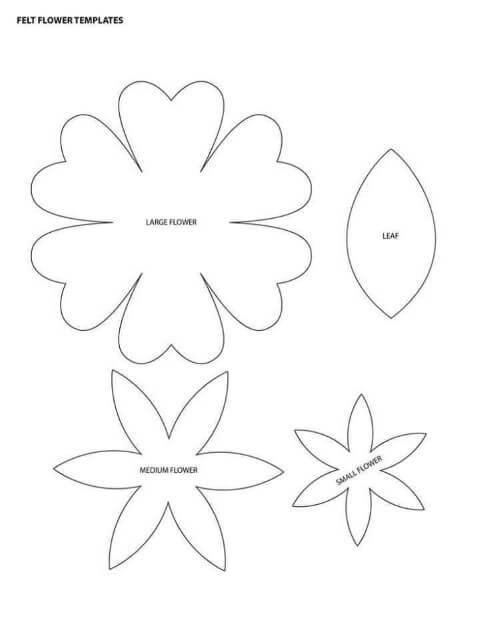 molde de flor tradicional para imprimir