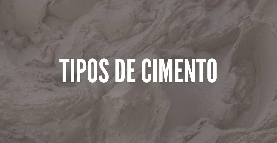 Tipos de cimento