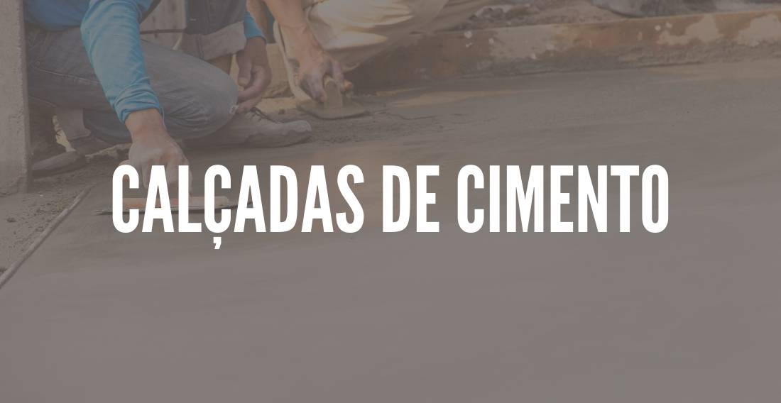 Calçadas de cimento