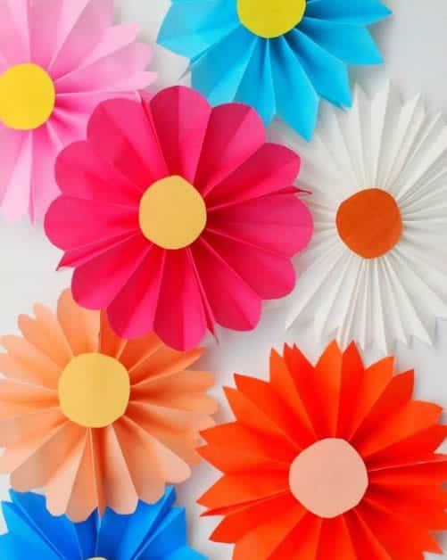 flores coloridas de seda