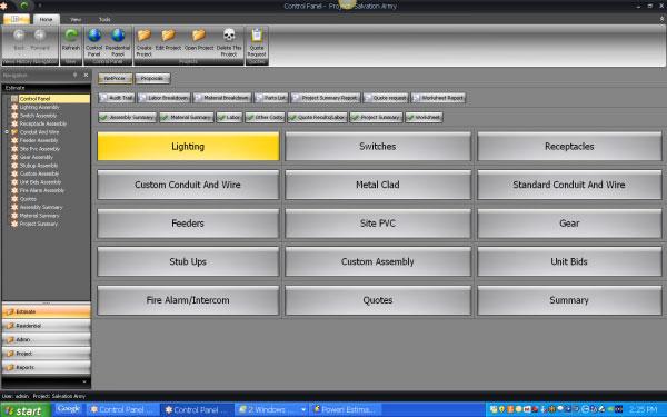 Software para orçamento de obras com foco em projetos elétricos