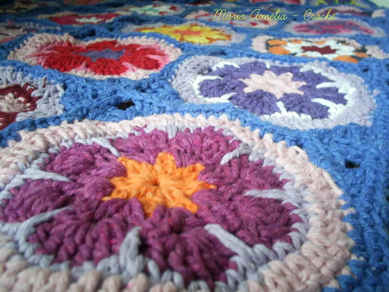 Como fazer flor de crochê: colcha de cama