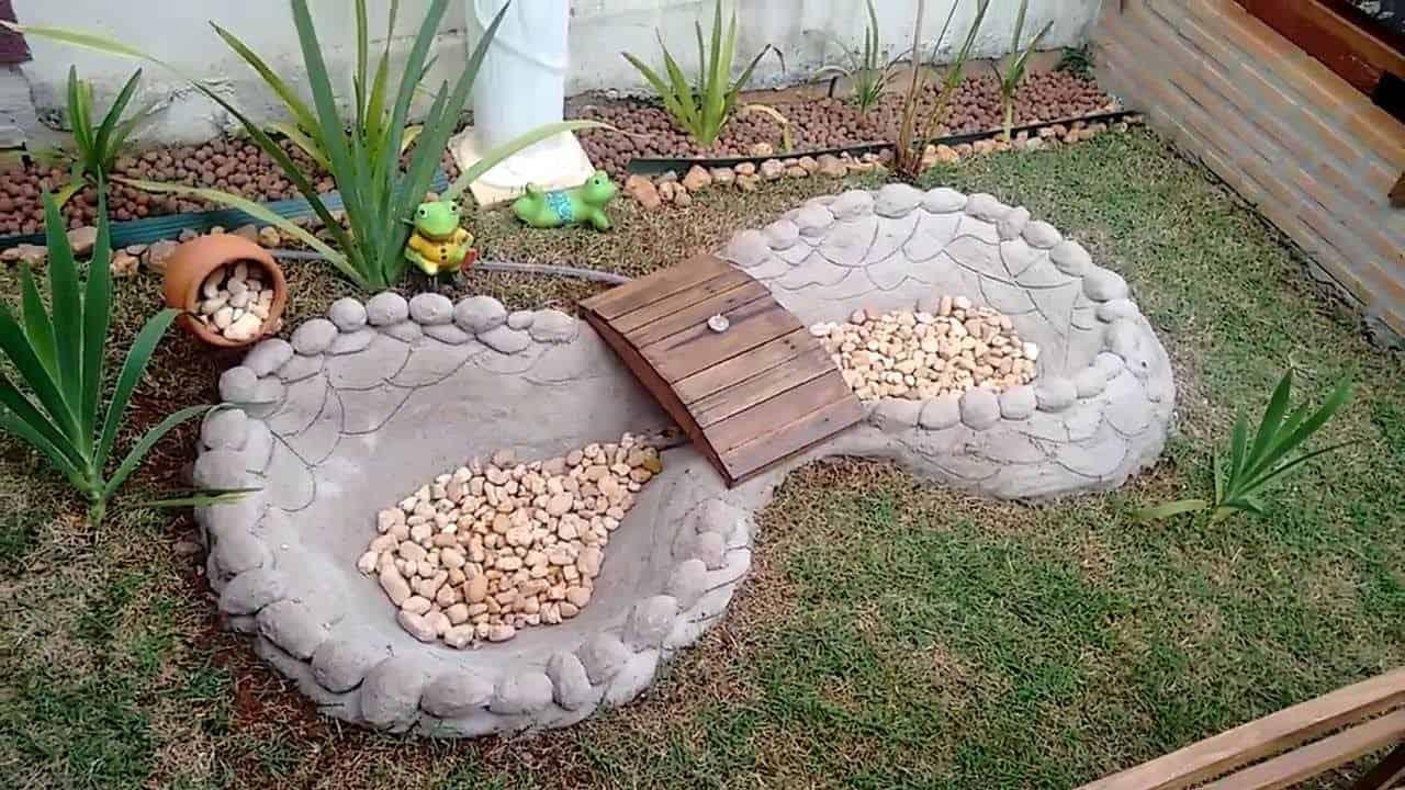 lago artificial com cimento