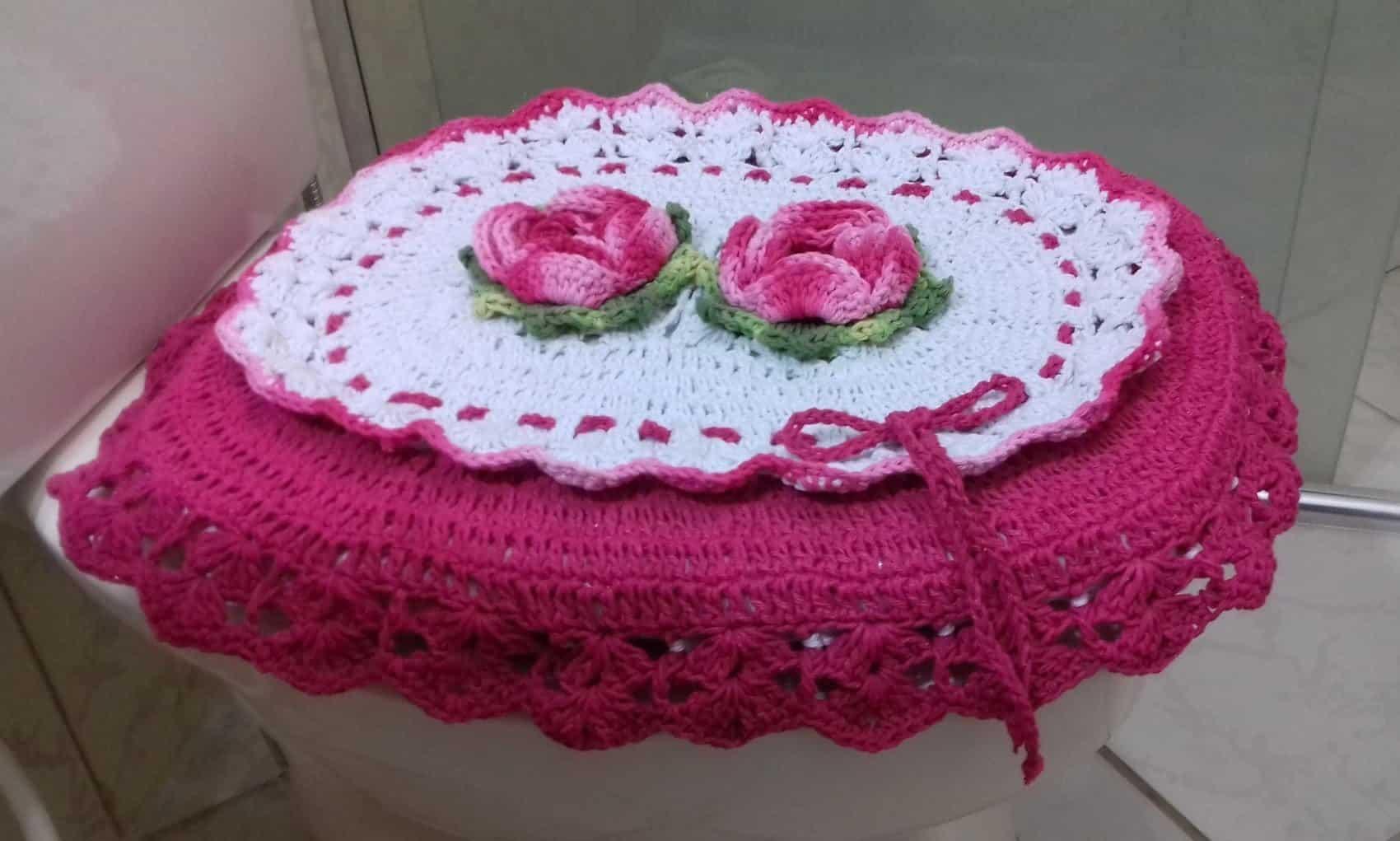 Como fazer flor de crochê: tampo de vaso