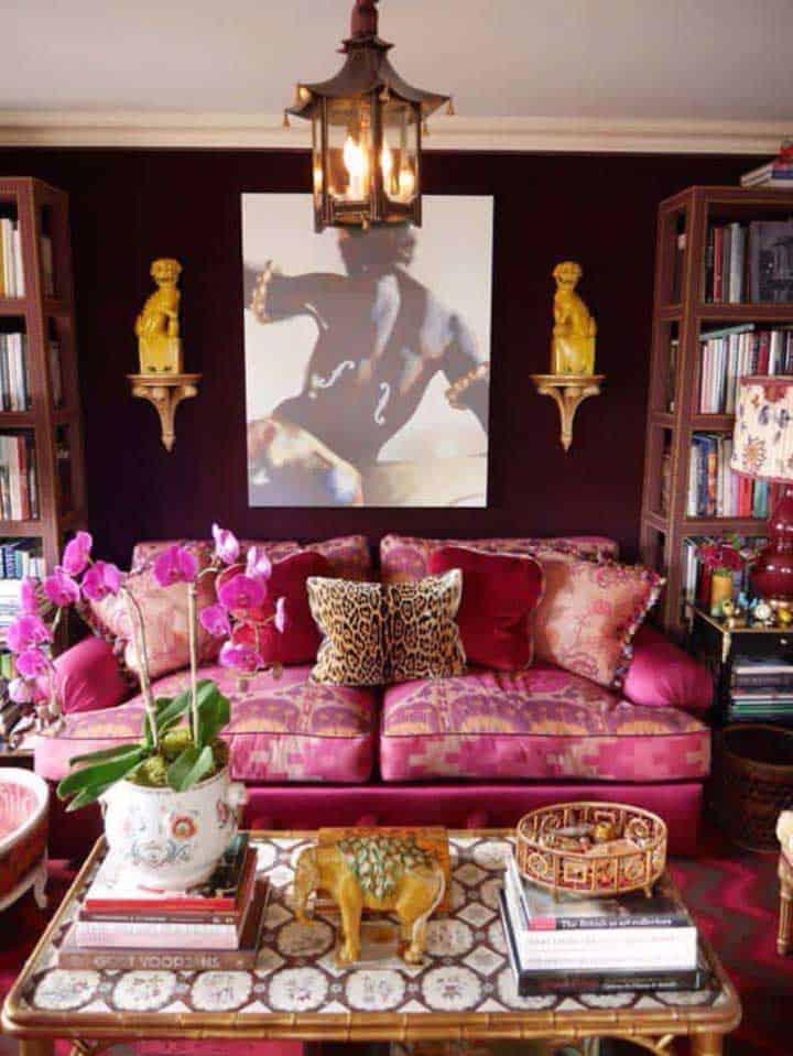 Sofá com estampa moderna e divertida