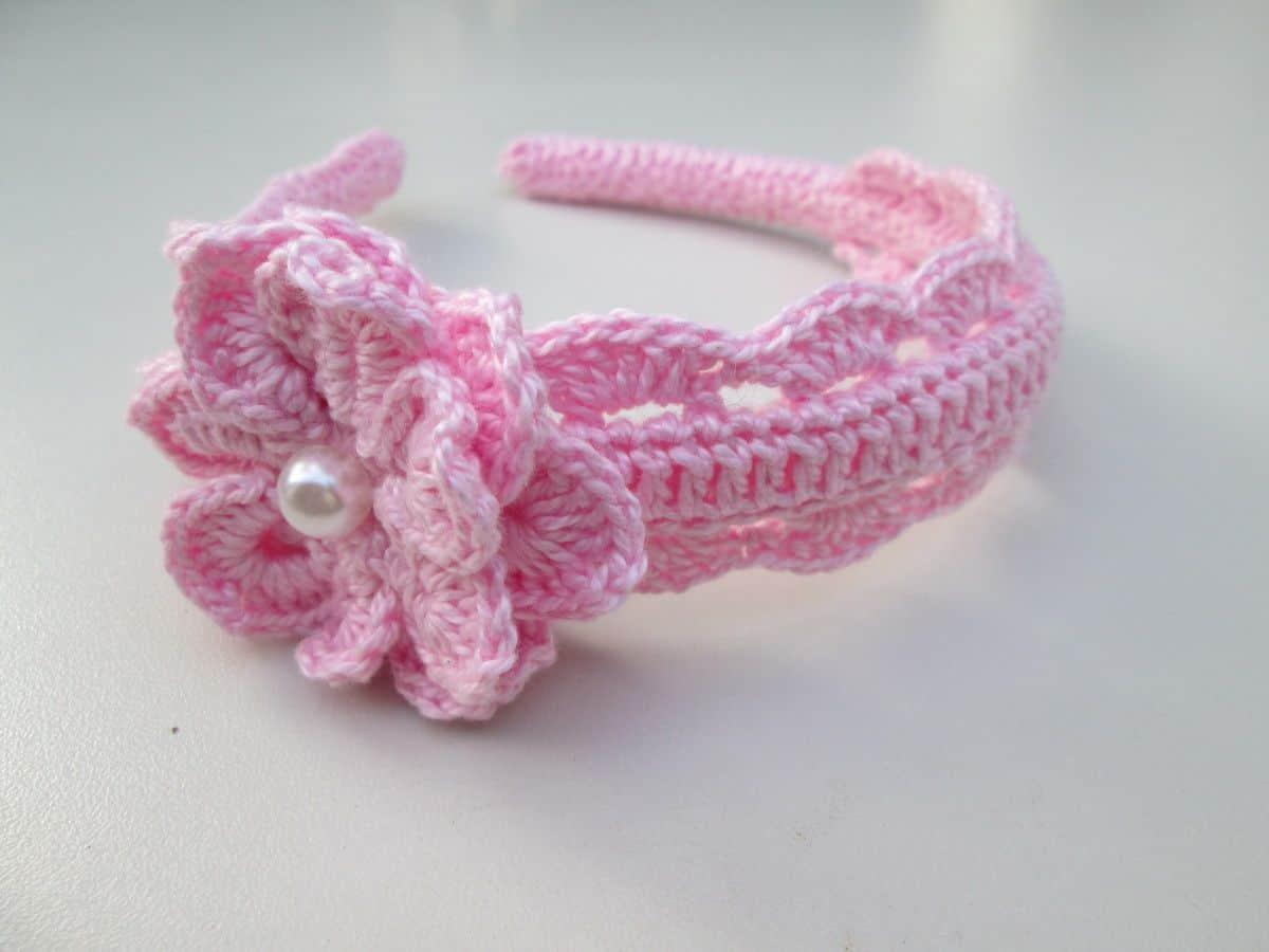 Como fazer flor de crochê: tiaras