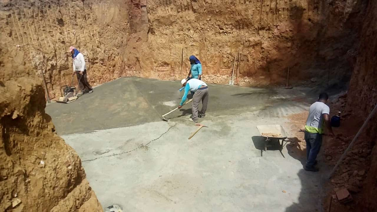 Lastro de concreto