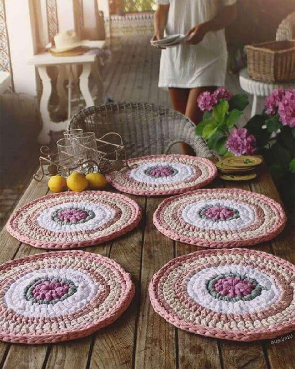 O sousplat pode ser usado para decorar jantares mais sofisticados.