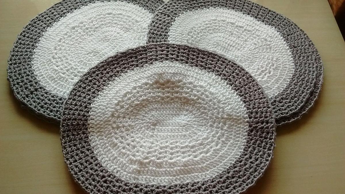 sousplat de croche oval