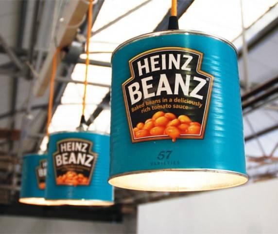 Luminárias de latas