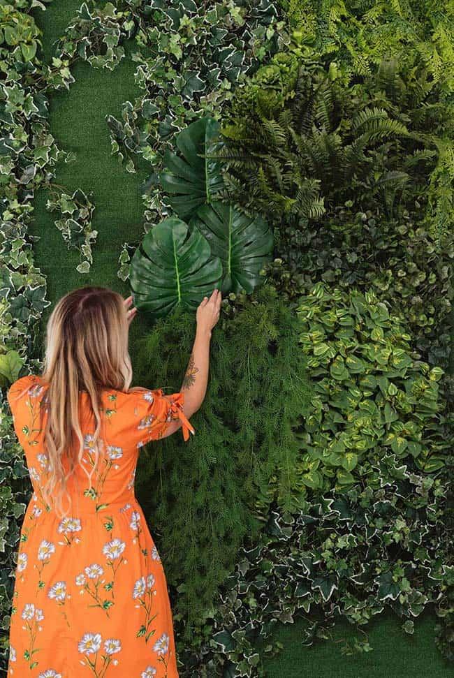 Painel verde para decoração