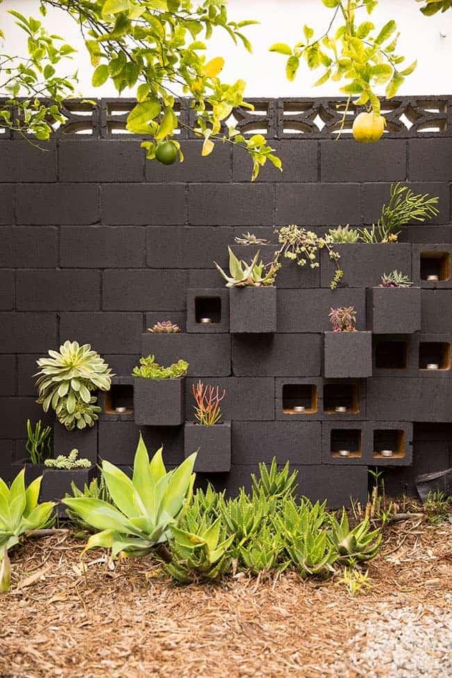 Usando blocos de concreto na decoração