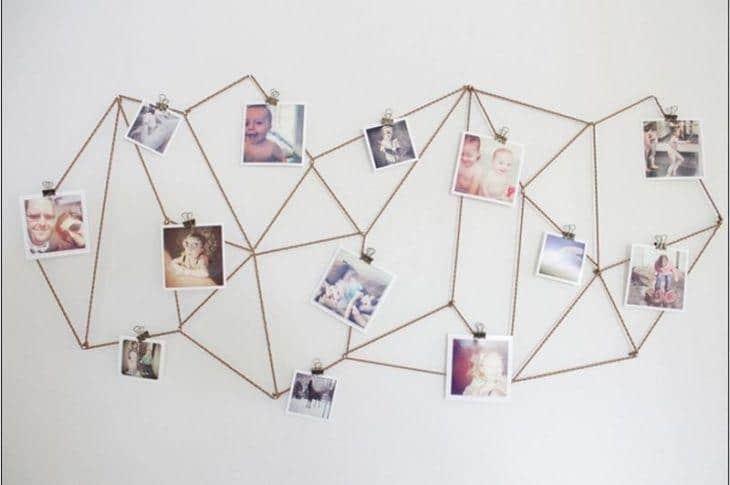 Display geométrico para fotos