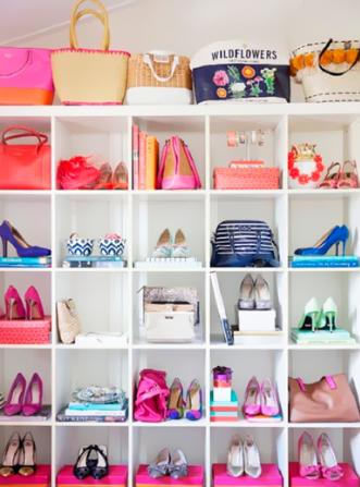 como organizar sapatos com nichos