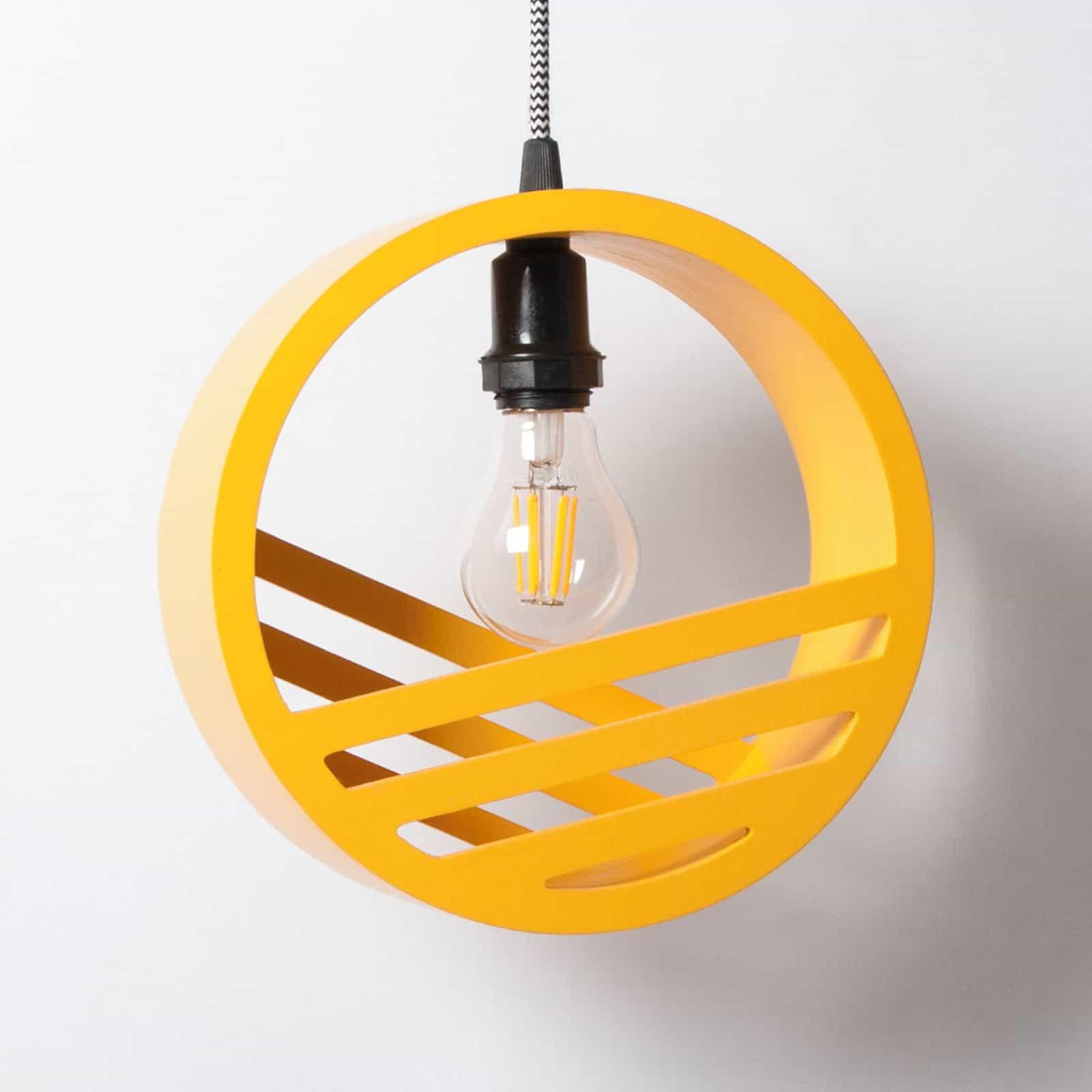 Lâmpada com entorno circular