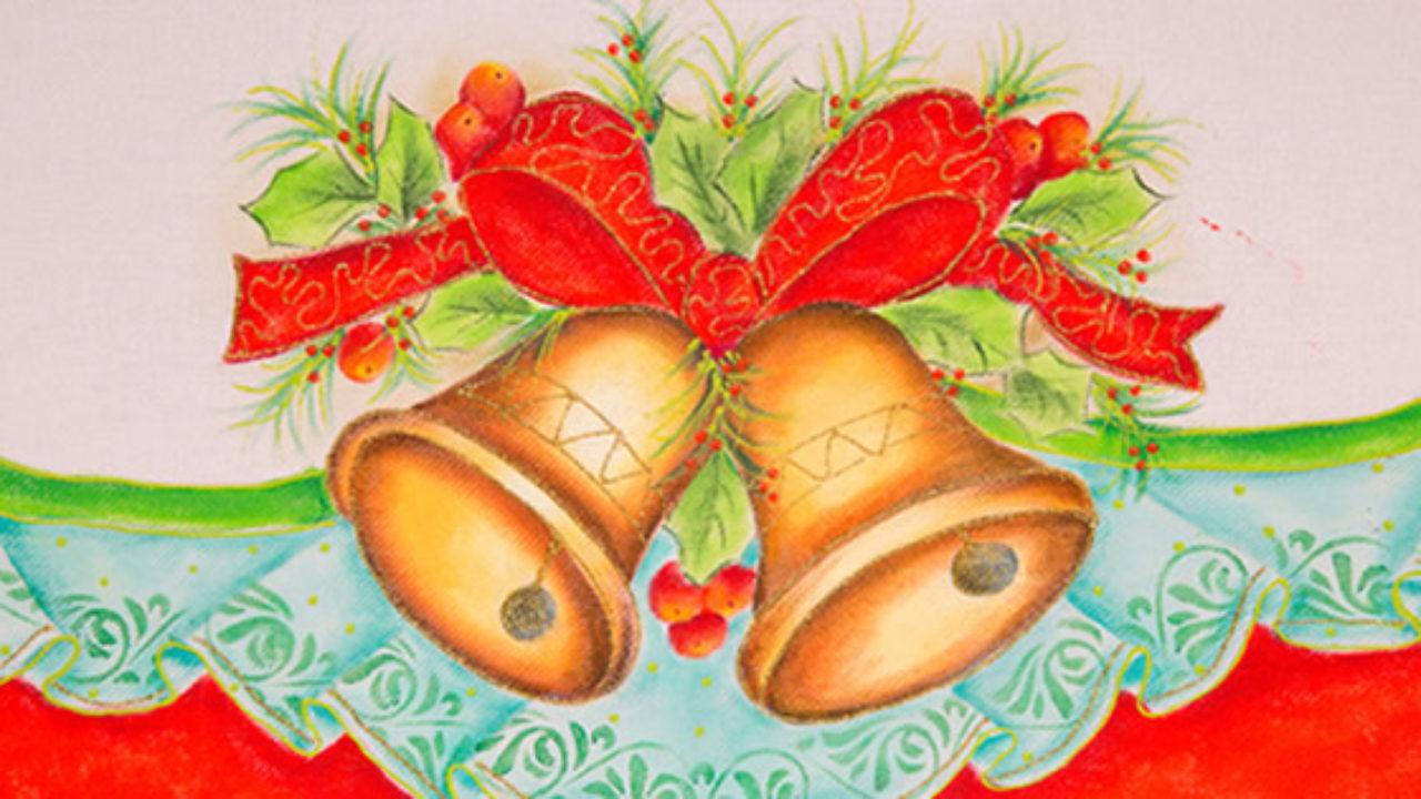 pintura em tecido com motivos natalinos