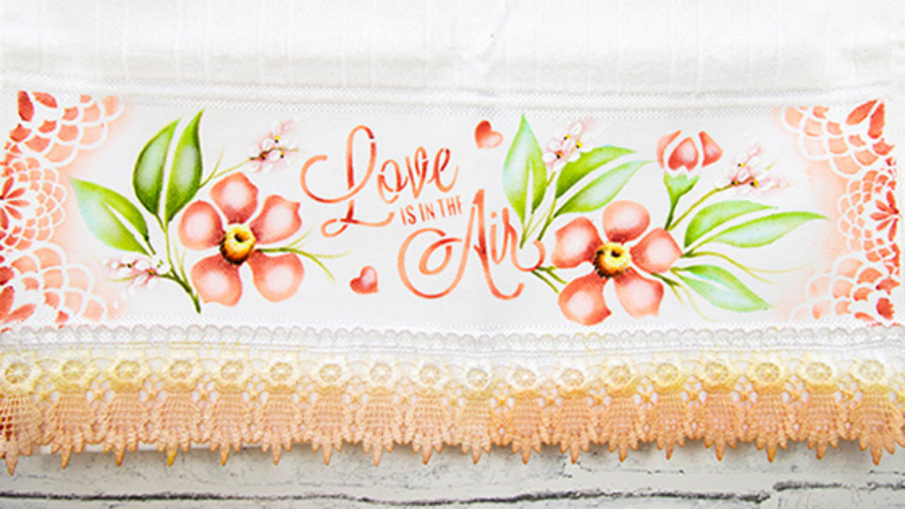 Pintura em Tecido em panos de prato e toalhas