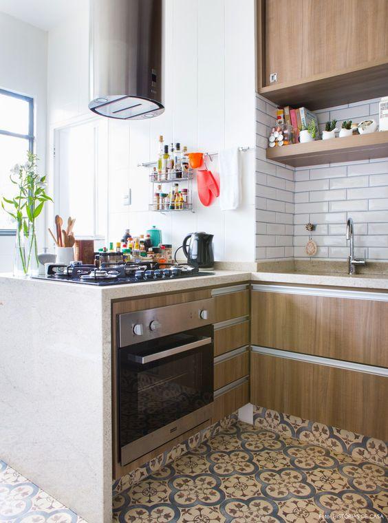 Subway tiles para cozinha pequena