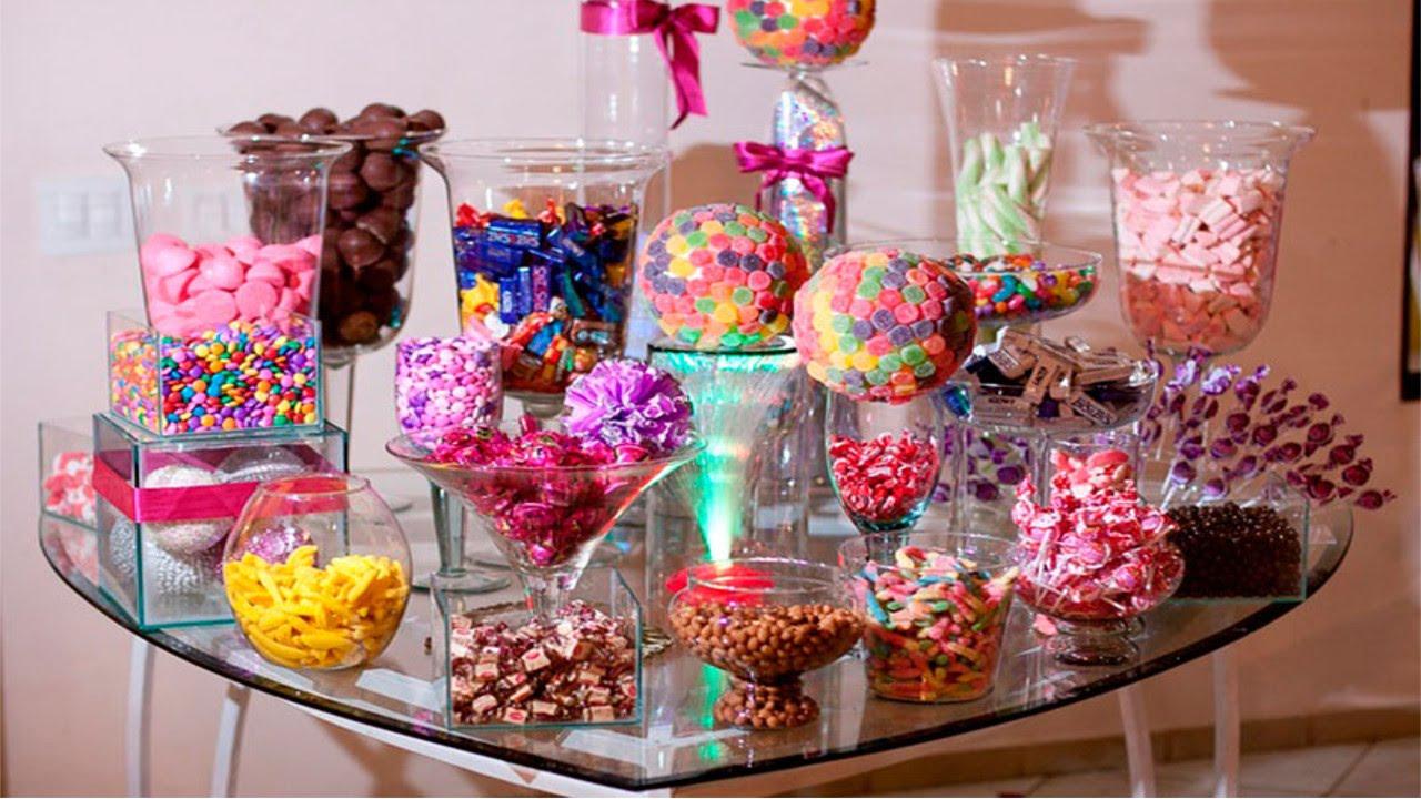 decoracao de festa infantil: mesa de guloseimas