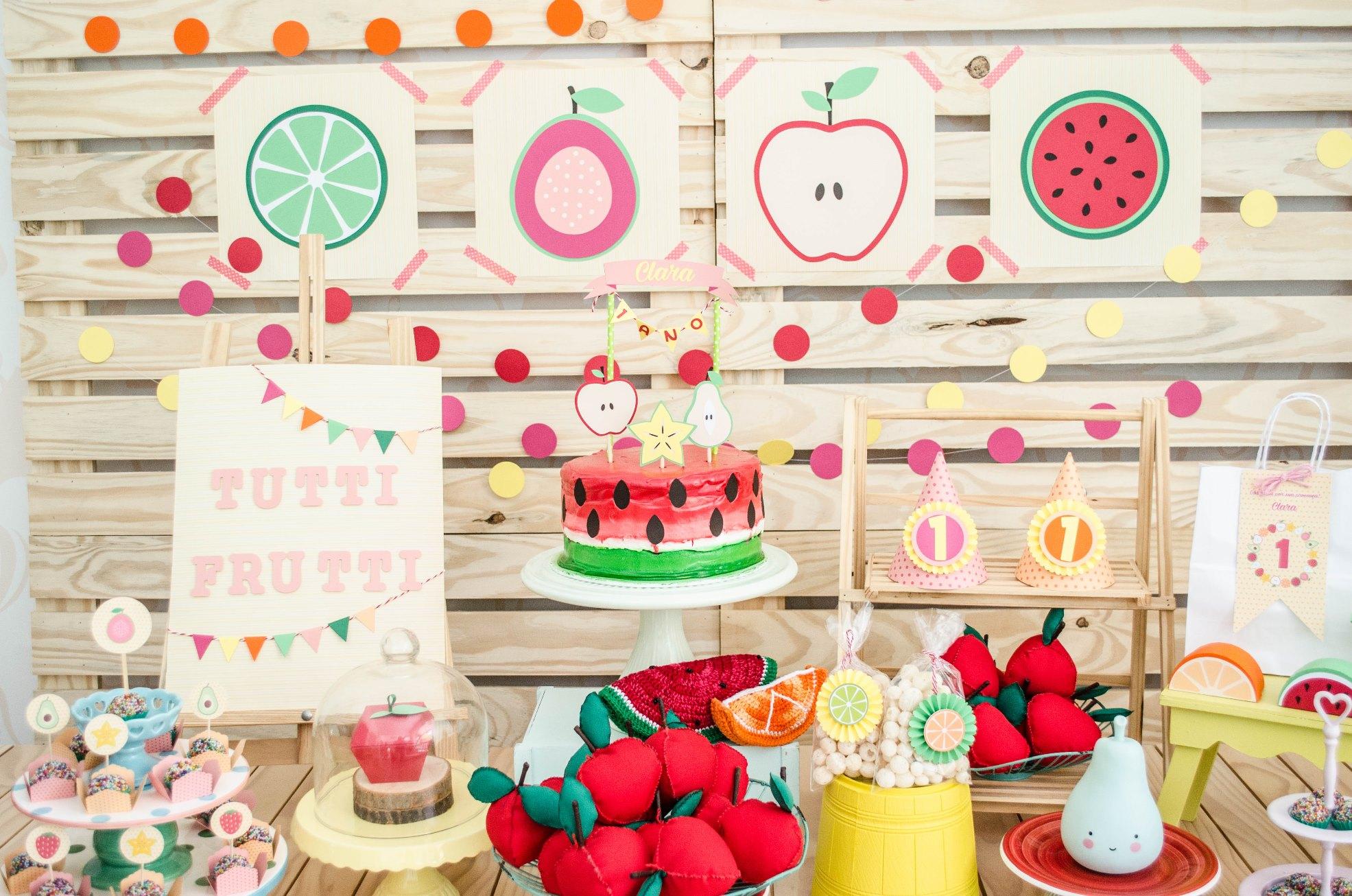 decoracao de festa infantil: com tema de frutas