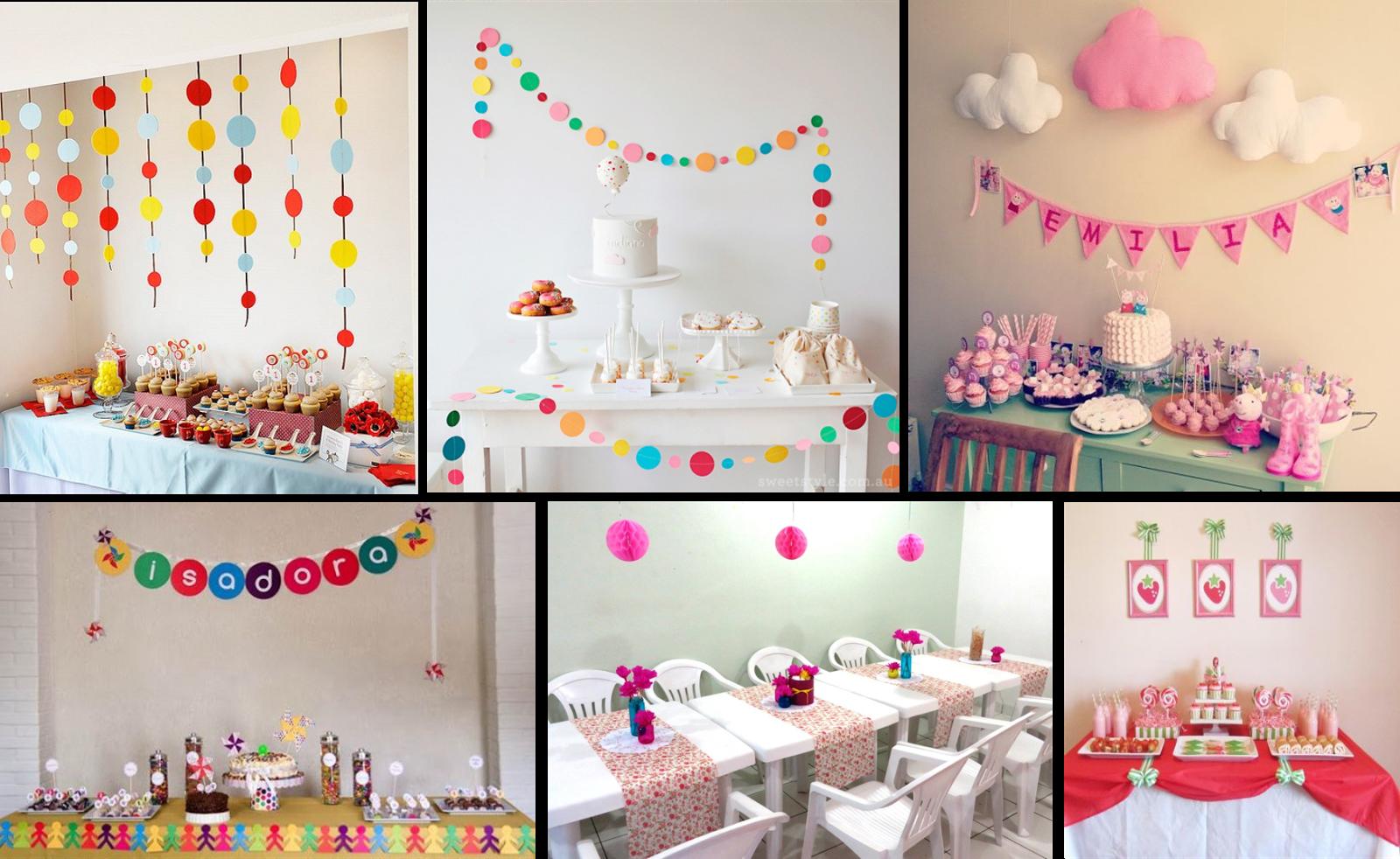 decoracao de festa infantil: cordão de bandeirolas