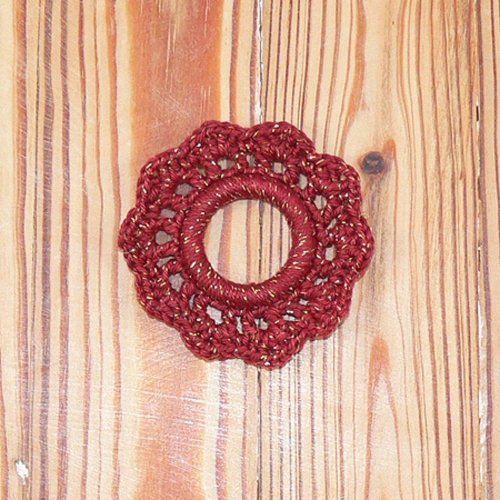 porta guardanapo de crochê circular
