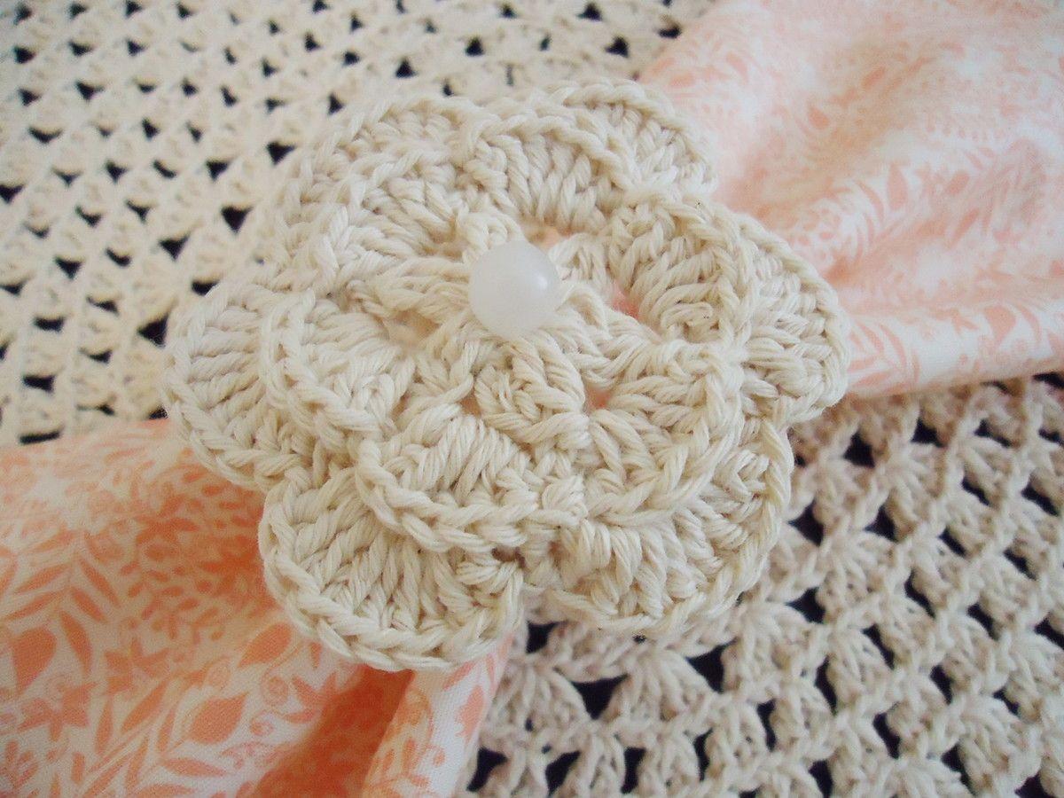 porta guardanapo de crochê de flor