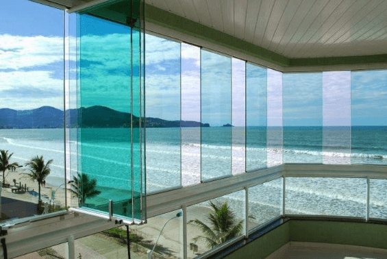 vidros móveis