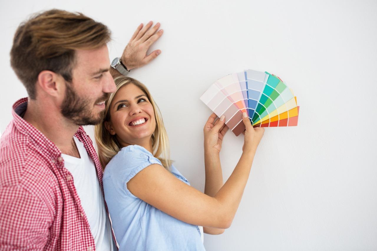 O simulador de cores facilita a escolha e agiliza o trabalho.