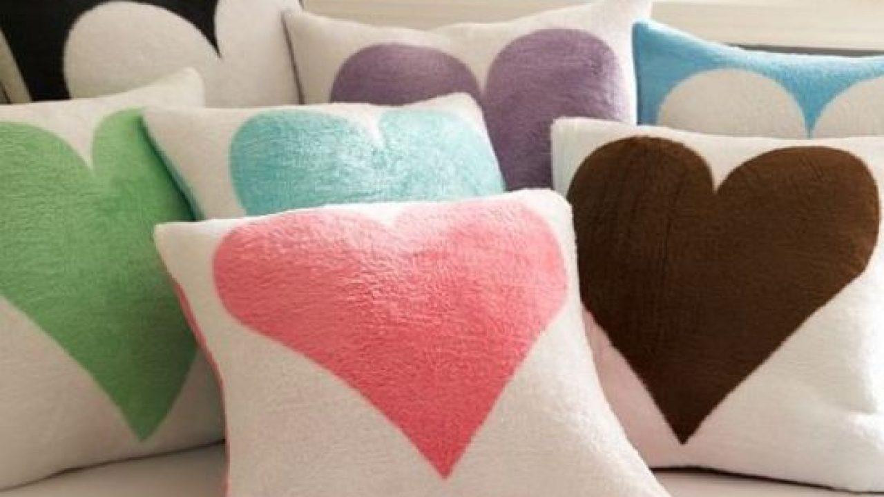 como fazer almofada de coração
