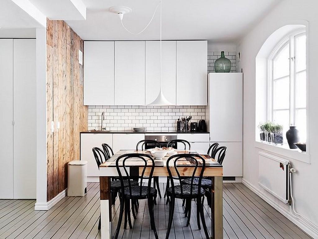 Para criar uma cozinha escandinava você deve incorporar todos os elementos do conceito minimalista.