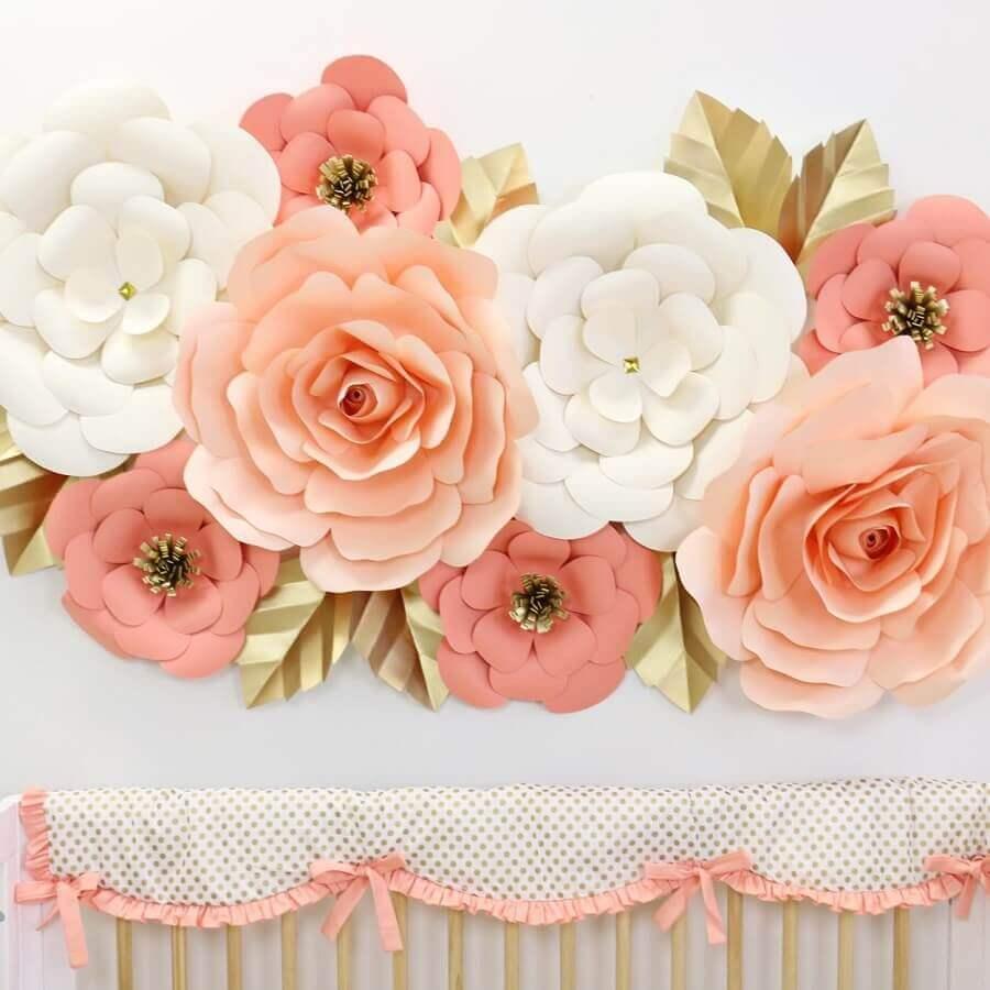 como fazer flor de papel crepom de tamanhos diferentes
