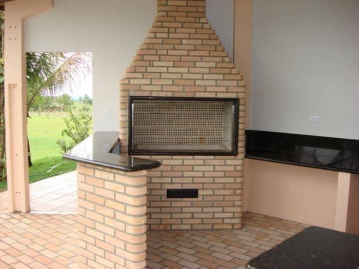 Projeto de churrasqueira de tijolos