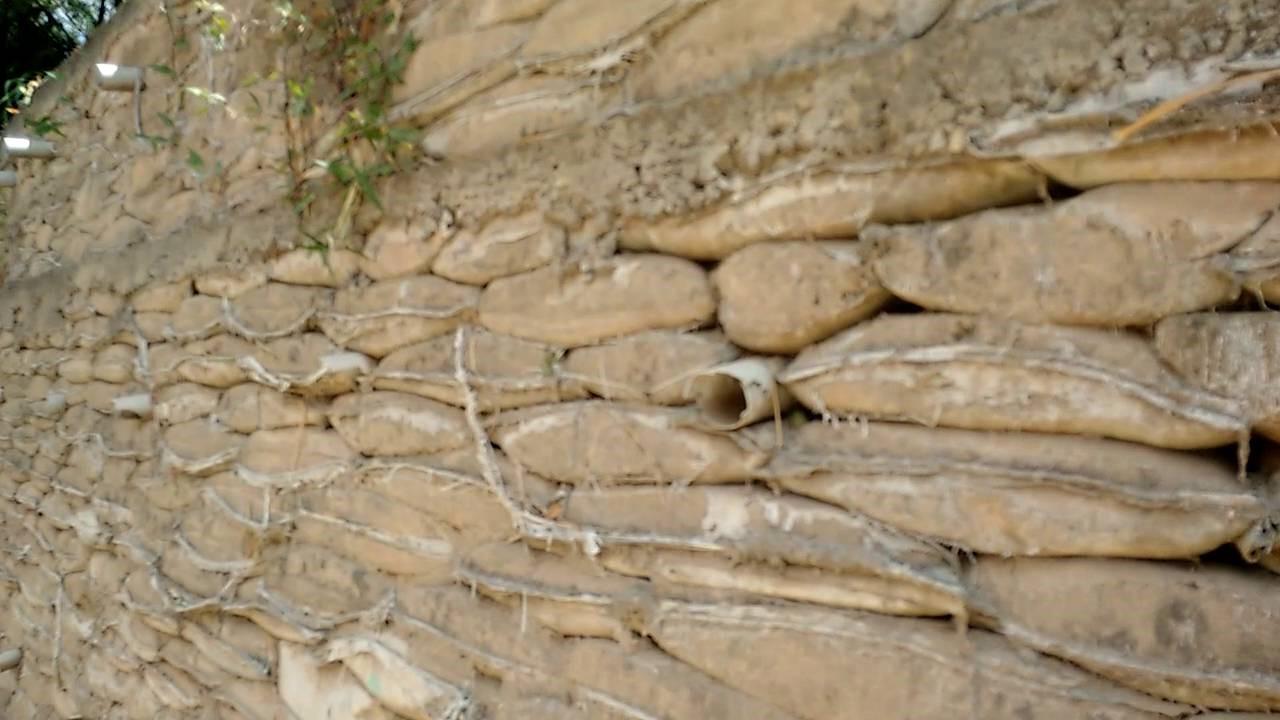 Muro saco solo-cimento