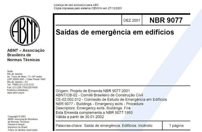 NBR 9077