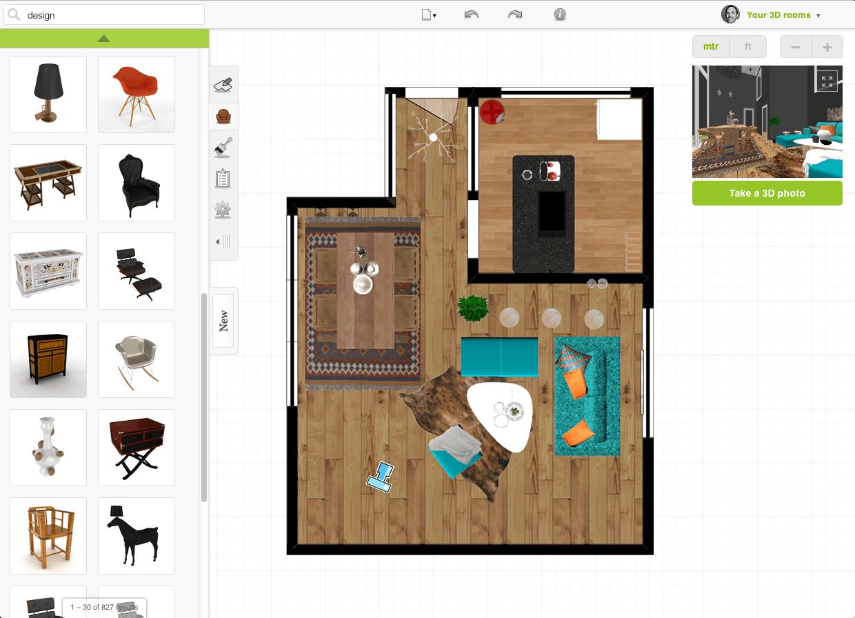 Criar plantas de casas com o Roomstyler