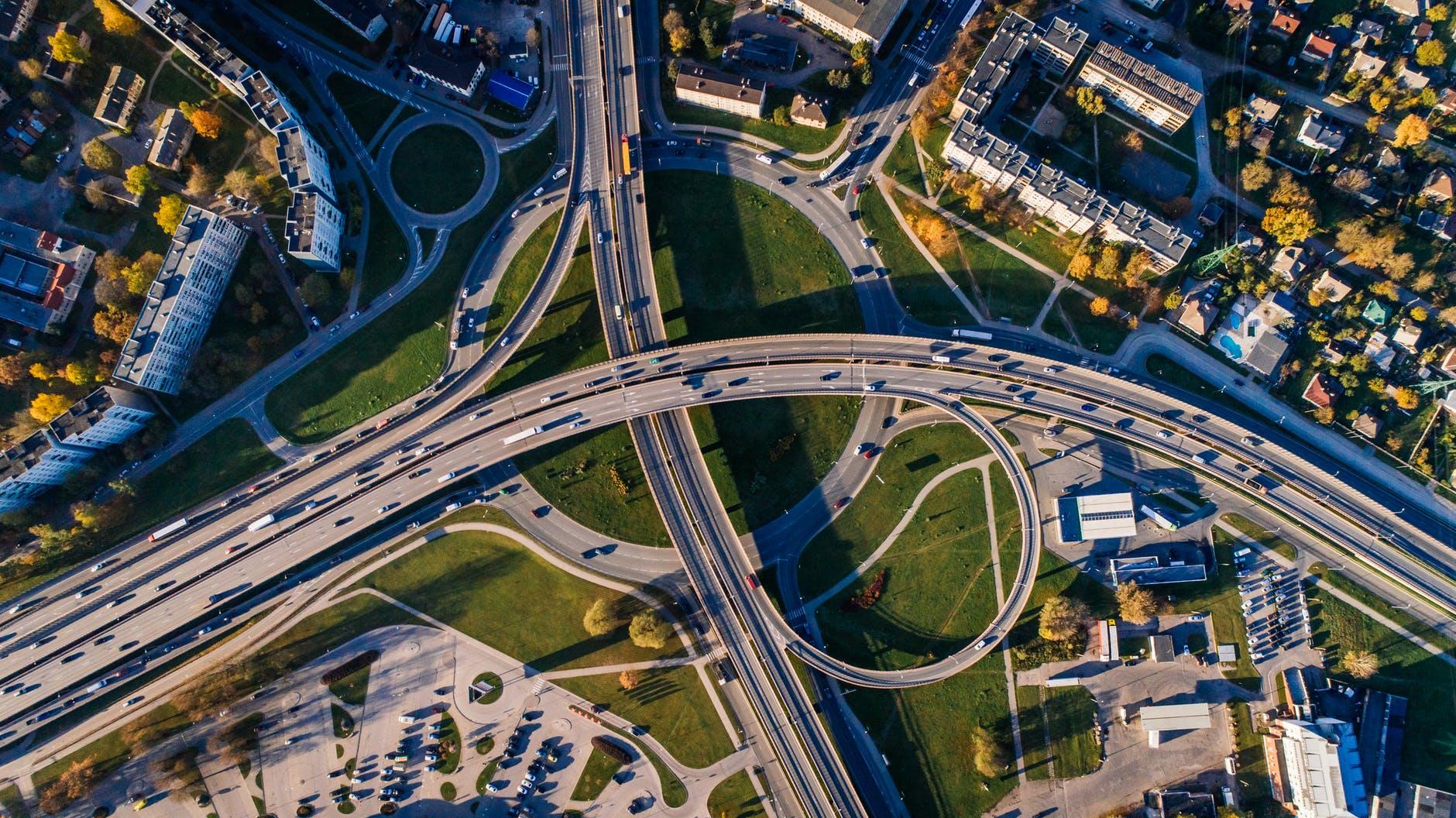 mobilidade urbana vista de cima