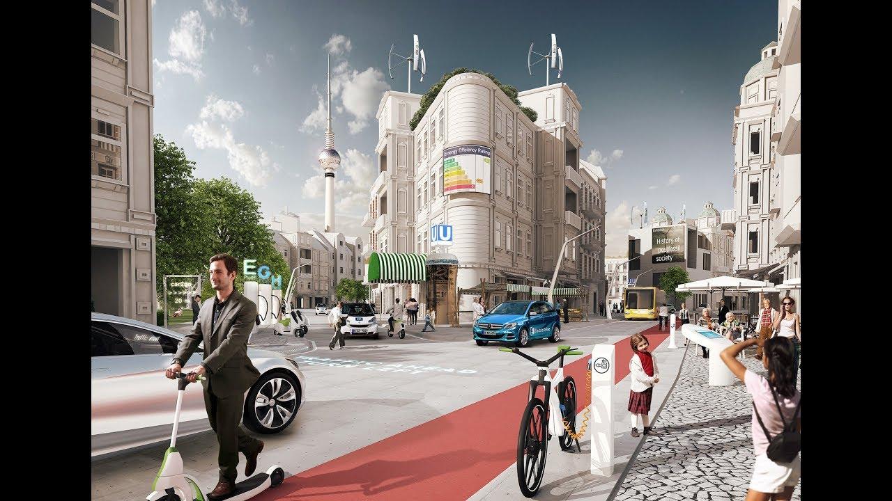modelo de cidade planejada arquitetônicamente para a mobilidade urbana